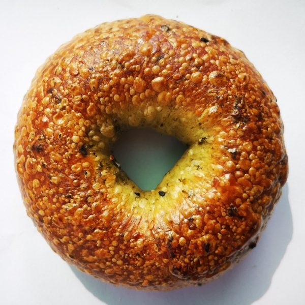 All-Natural scallion bagel