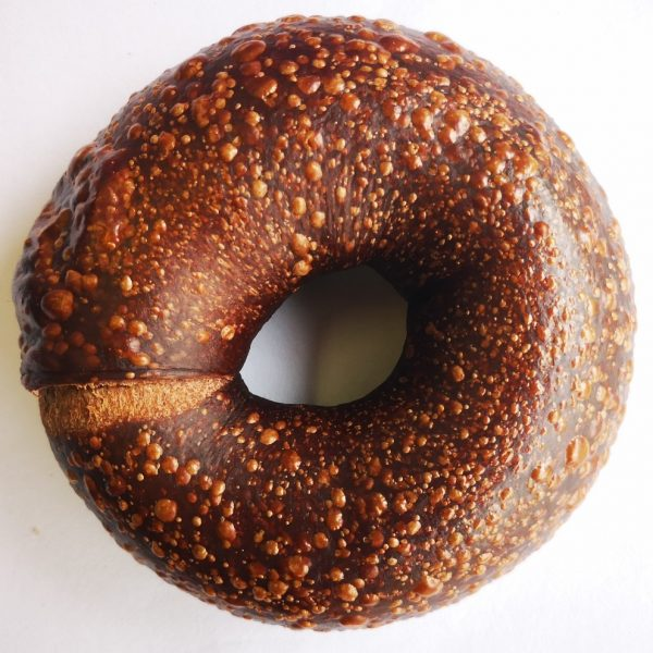All-natural double chocolate bagel